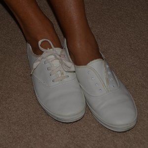 White Keds Classic Leather Size 6.5